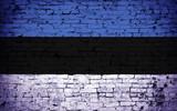 Effects of Estonia Flag, Flag Effect on Wall, Estonia Flag