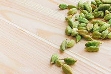 Cardamom On A Wooden White Table