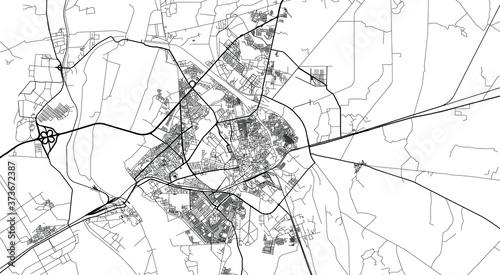 Fotomural Urban vector city map of Hyderabad, Pakistan, Asia