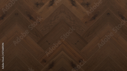 Fototapeta wood background - top view of wooden solid wood flooring parquet laminate brushed oak country house floorboard dark herringbones / fish bone obraz na płótnie