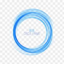 Circle Shape. Blue Circle Lines.Blue Circles. Transparent Circle. Abstract Wave Circles. Circle Frame.