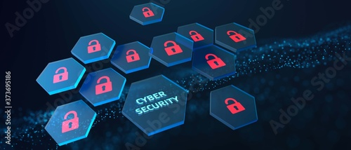 Photo Cyber security data protection business technology privacy concept