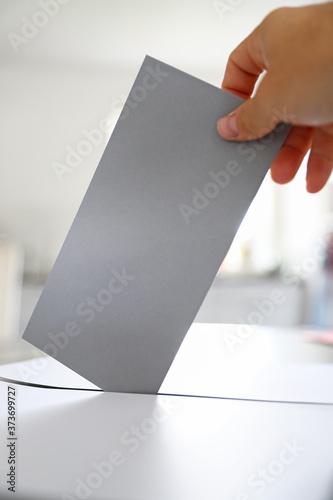 Fototapeta Wahlbrief Wahlschein zur Kommunalwahl Landtagswahl Bundestagswahl