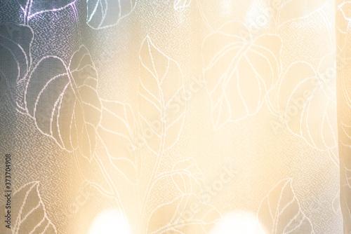Obraz na plátně 陽の当たるレースカーテン