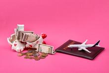Saving Money For Travel Concep...