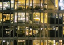 Palazzo Illuminato Di Notte