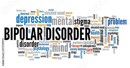 Fotografie, Tablou Bipolar disorder word cloud