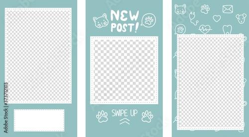 Fotografia Vector editable stories templates, posts for social media