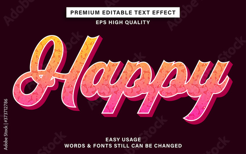 Fototapeta Graffiti text effect - happy