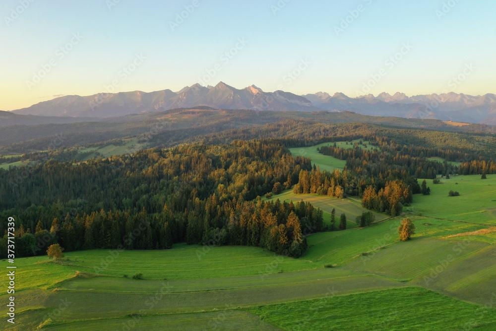 Beautiful summer landscape of Tatra mountains