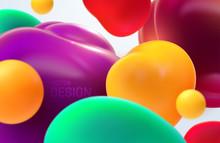 Colorful Flowing Bubbles. Vect...