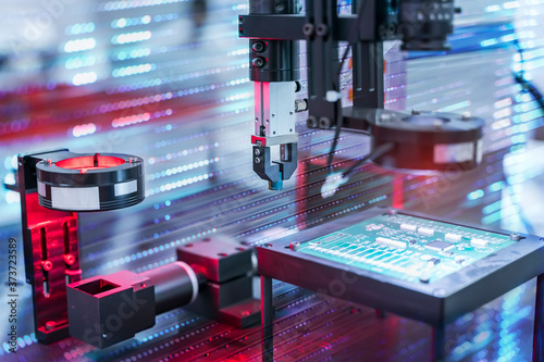 Fotografie, Obraz automatic vision sensor camera system in intellegence factory,manufacturing industry for industry 4