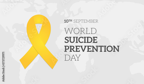 Obraz World Suicide Prevention Day Background Illustration Banner - fototapety do salonu
