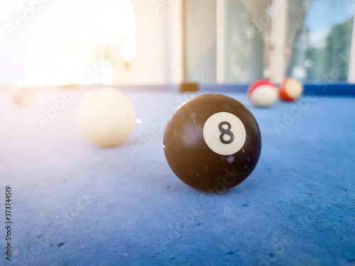 Obraz na plátne pool balls on a table