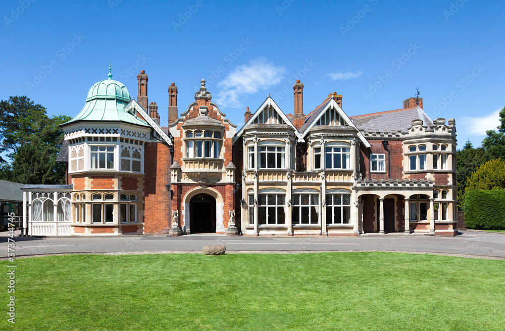 Fototapeta Bletchley Park Mansion, Buckinghamshire, England. Known as the Home of the Codebreakers.