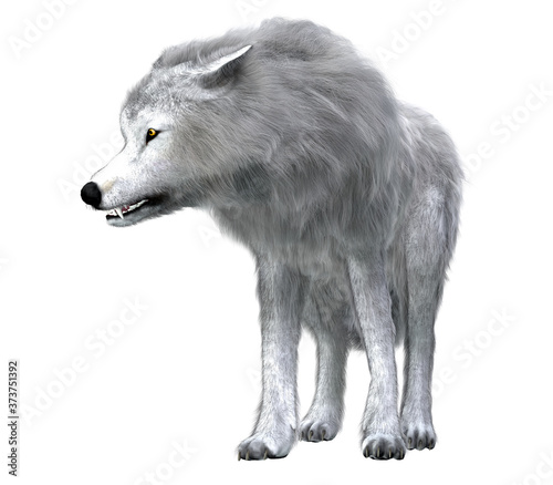 Dire Wolf Pack Leader - The predatory Dire Wolf prowled the forests of North and South America during the Pleistocene Period Billede på lærred