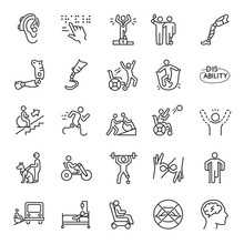 Disability, Icon Set. Disabled...