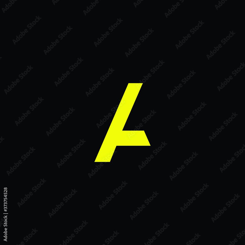 Fototapeta letter A  creative logo design with high resolution vector file.