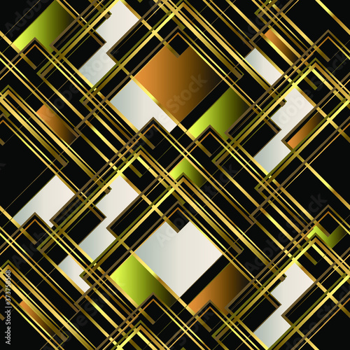 Naklejki na kafelki  golden-seamless-geometric-pattern-multi-colored-squares-golden-lines-and-shapes