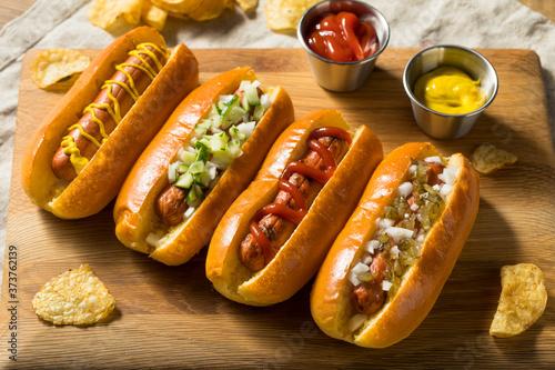 Valokuva Healthy Homemade Turkey Hot Dogs