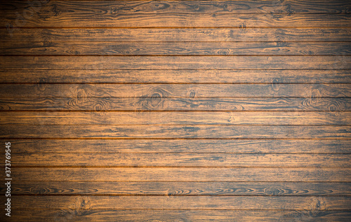 Fototapeta Old wooden background in rustic style. Dark wooden background with the structure and pattern of boards and panels. Copy space. obraz