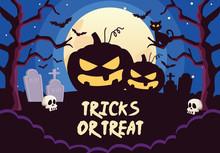 Halloween Tricks Or Treat Lett...