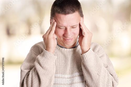 Kopfschmerzen Canvas Print