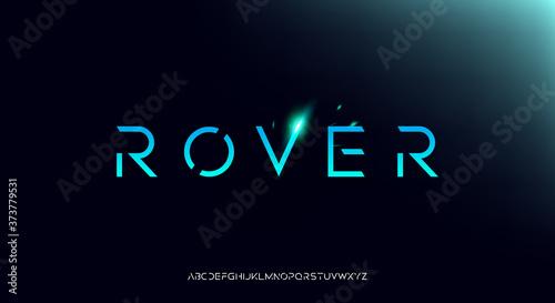 Papel de parede Rover, an Abstract technology futuristic alphabet font
