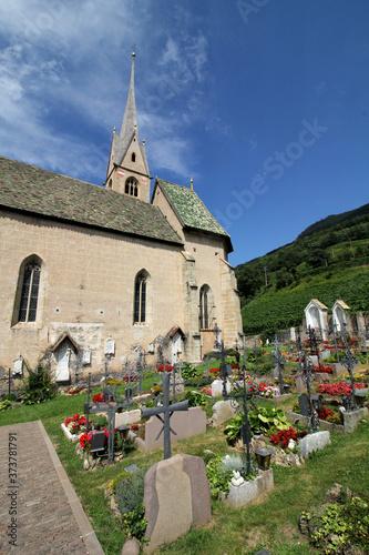 la chiesa di Santo Stefano a Pinzano (Bolzano) Fototapeta
