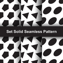 Seamless Pattern Set Solid Style Elegant Background