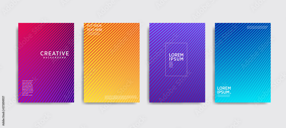 Fototapeta Minimal covers design. Colorful halftone gradients.background modern template design for web. Cool gradients. Future geometric patterns. Eps10
