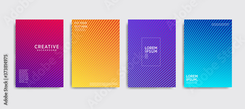 Obraz Minimal covers design. Colorful halftone gradients.background modern template design for web. Cool gradients. Future geometric patterns. Eps10 - fototapety do salonu