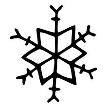 Isolated Snowflake Element. Ha...