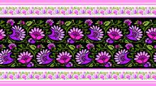 Seamless Vector Floral Border Design