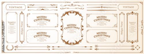 Canvastavla クリスマスのフレームセット、リースのデザイン、オーナメントや装飾デザイン