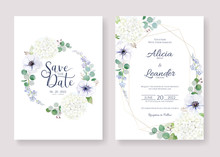 Set Fo Wedding Invitation, Sav...