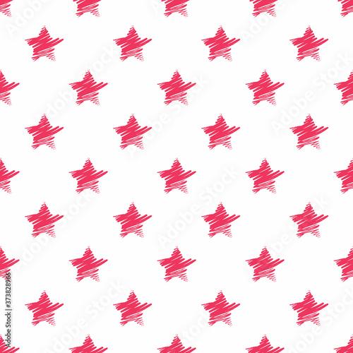 Tapeta czerwona  hand-drawn-red-stars-seamless-pattern-vector