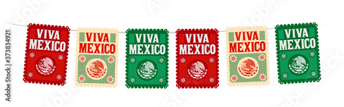 Viva Mexico Mexican holiday vector, street decoration, master collection Fototapeta