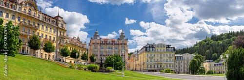 Papel de parede Panorama view - Goethe Square in small Czech spa town Marianské Lázně (Marienbad