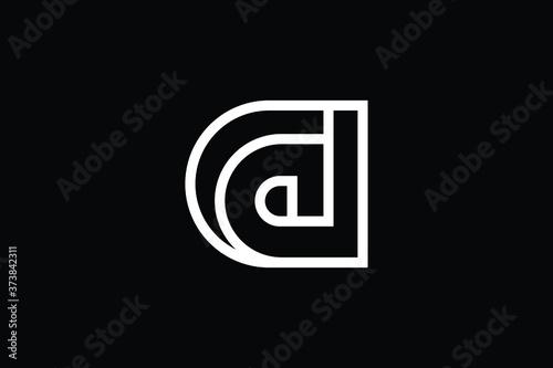 Carta da parati Minimal Innovative Initial CD logo and DC logo