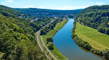 Aerial View Of The River Weser...