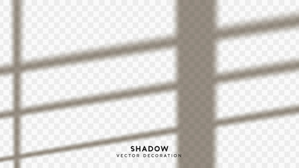 Shadow overlay. Effect light transparent shadow. Realistic creating reflective effect illusions. Overlay for adding scene lighting to your images. Vector illustration.