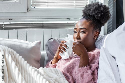 Fototapeta Sick day at home