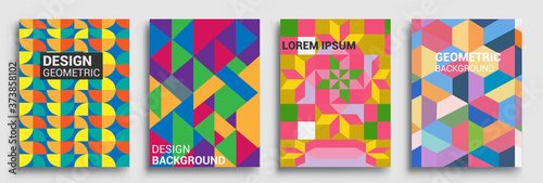 Modern geometric abstract background covers sets Wallpaper Mural