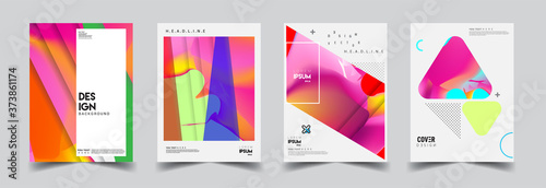 Papel de parede Modern abstract covers set
