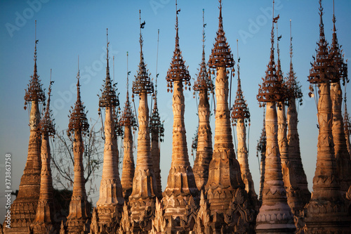 Obraz na plátně Kukku Pagoda, Taunggyi, Myanmar
