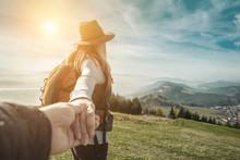 Woman Hiker, Hiking Backpacker...