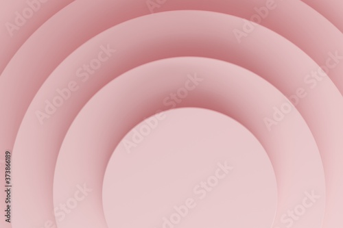 Fototapeta Cylindrical podium on a pink background with top light. Backdrop design for product promotion. 3d rendering obraz