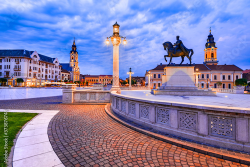 Oradea medieval downtown in Transylvania, Romania Canvas