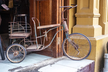 Broken Tricycle Near House In ...